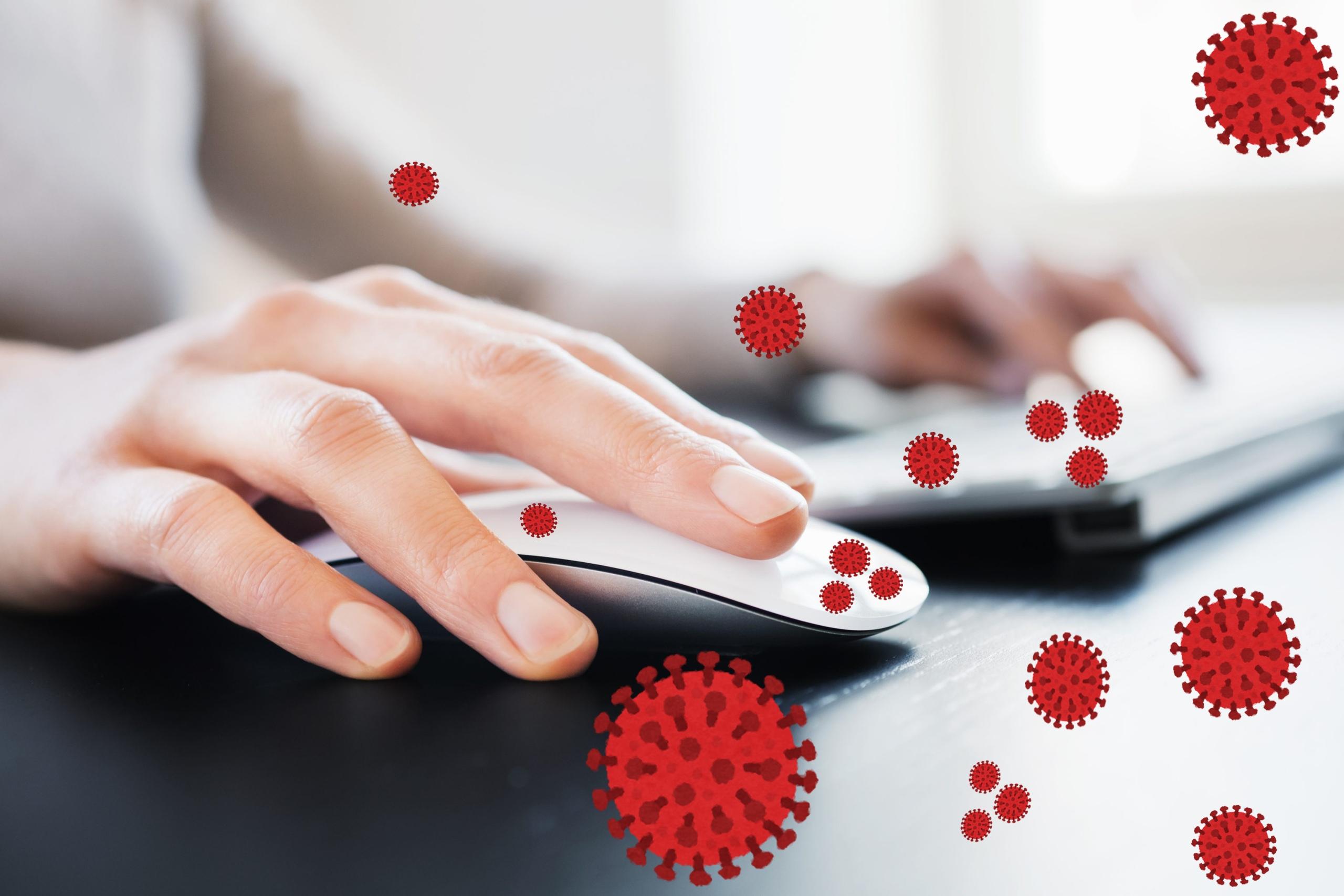 вирус на клавиатуре и мыши